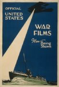 Vintage War Poster Official United States War films now being shown